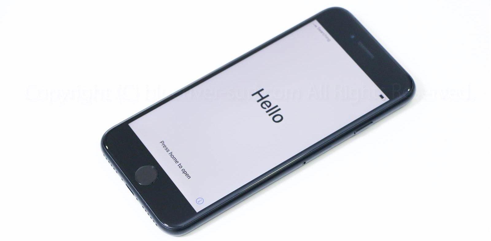 iPhone SE(2020)起動画面02