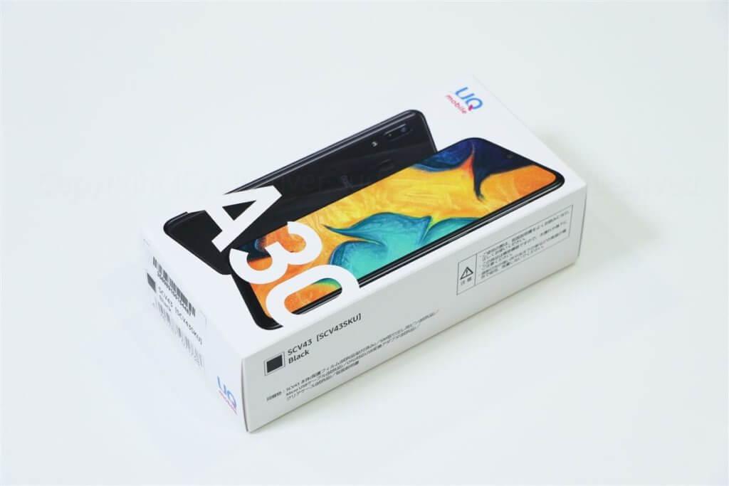 Galaxy A30 パッケージ01