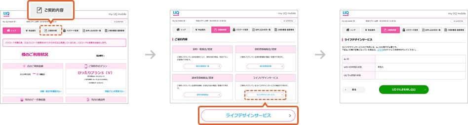UQモバイル au ID紐付け